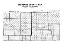 County Map - School Districts, Cheyenne County 1967